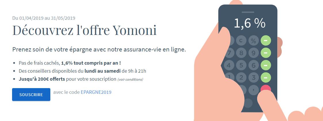 yomoni offre 200€ offerts