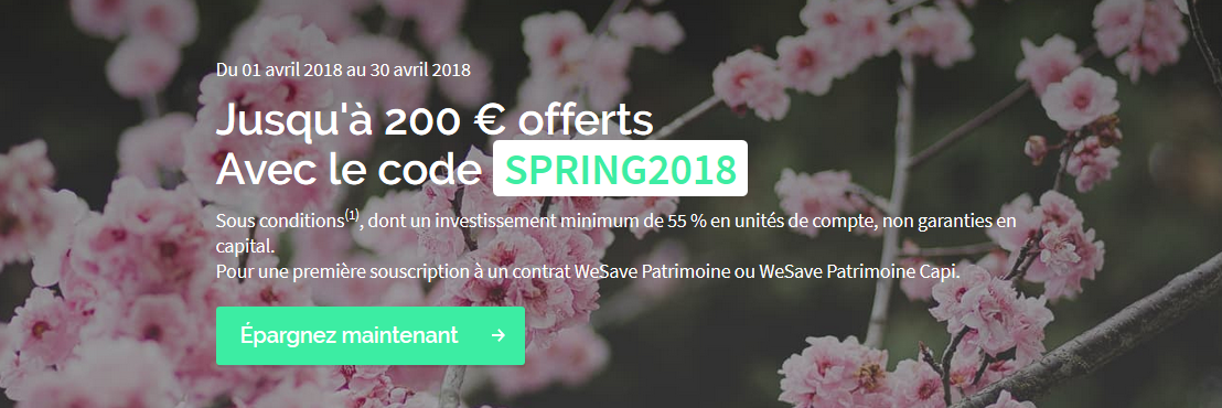 Code Promo et promotion Wesave – 200€ offerts